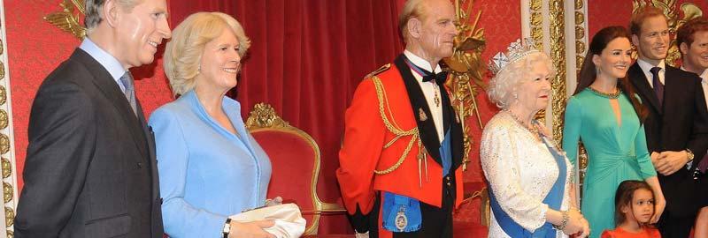Brittiska kungahuset som vaxdockor på Madame Tussauds