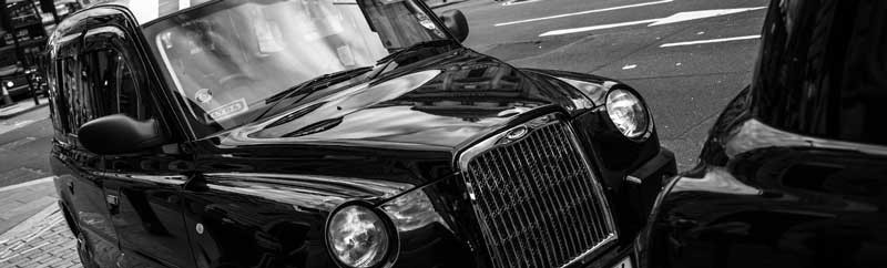Taxi i London, en så kallad Black Cab